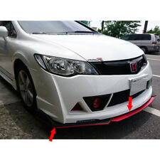 Matte Black For Honda Civic 8th Sedan MT Front Bumper Lip Spoiler Bodykit 4PCS