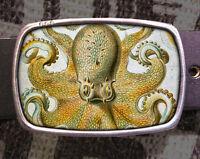 Octopus Vintage Inspired Art Gift Sea Belt Buckle