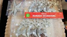 SILVER REINDEER AND STAR