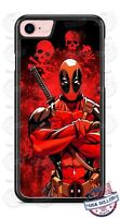 Deadpool Skulls Design Phone Case Cover fits iPhone Samsung Google LG etc.
