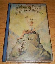 Moni, der Geißbub, Kinderbuch von Johanna Spyri, 30er Jahre