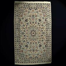 Echt Nain Orient-Teppich fein 200x124 cm beige Wolle Handgeküpft robust TOP!