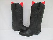 ZODIAC Black Leather Lizard Print Cowboy Boots Size 7.5 M Style 913184 USA