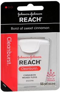 Reach Cleanburst Cinnamon Waxed Floss, 55 Yards Pack of 4