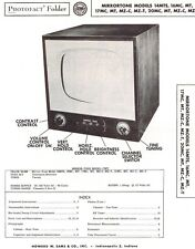 SERVICE Manual 1952 Photofact: Mirrortone 14MTS 16MC 16MT 17MC 17MT MZ-C 20MC TV