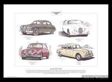Jaguar Car Mk1 Mk2 340 MkI MkII Mk 1 2 I II Art Print