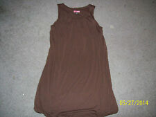 "Junior's ""Max Rave"" Brown ""Blouson"" Style/Sleeveless Short Dress.  Size Small."
