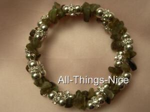 LABRADORITE Gemstone Crystal Bangle Wrap Bracelet Jewellery for Focus Intuition