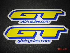 2 AUTHENTIC GT BICYCLES FRAME STICKERS / DECALS #11 AUFKLEBER / STICKER