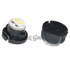 2PCS T4.7 0.18W 12lm 12000K SMD 3528 LED Cool Eclairage en voiture blanche 12V