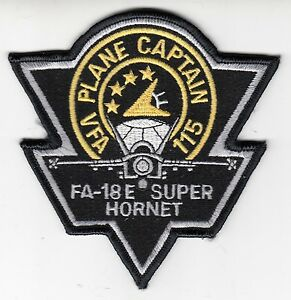 VFA-115 EAGLES PLANE CAPTAIN  F/A-18E SUPER HORNET PATCH