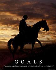 Horse Motivational Poster Art Western Decor Cowboy Rodeo Saddle Spurs MVP264
