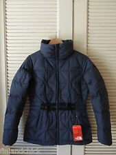 NORTH FACE URBAN NAVY BELTED MERA PEAK 550 DOWN JACKET/ PARKA , SIZE M ~NWT