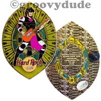 2005 Hard Rock Cafe Pin Future Bassist Stained Glass HRC Le 100 Online Series