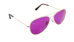 Magenta Aviator Mood-Boosting Sunglasses with Protective Chakra Bag