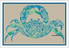 CRAB Animals Counted Cross Stitch Chart Needlework Craft Pattern PDF