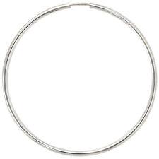 925 Sterling Silber Ohrringe 50mm Creolen,  Silver huggie Earrings D-38049