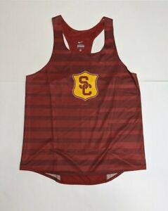 Nike Dri-fit Team Issued USC Trojans Track and Field Mens sz Medium Singlet Tank