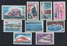 France 9 timbres non oblitérés gomme**  19  Transports