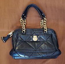 MARC JACOBS Leather Ines Patchwork Black Designer Handbag Luxury Purse Bag