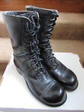 CORCORAN Vintage 60s Black Leather Paratrooper Jump Military Boots Men sz 9.5 C