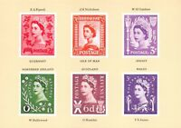 Postcard 1983 Royal Mail, Unadopted Essays From The 1958 Country Stamp Issue BR1