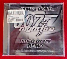 007 Nightfire JAMES BOND DEMO VERSION PC Game CD EA Games MGM NEW SEALED 2002