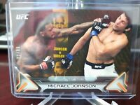 2016 Topps UFC Knockout Gold #01/99 Michael Johnson #17 Rookie