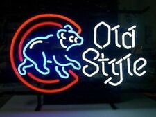 """Chicago Cubs Old Style 17""""x14"""" Neon Sign Lamp Light Glass Bar With Dimmer"""