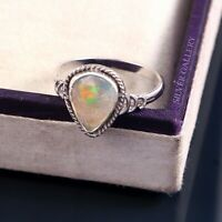 Natural Opal Solid 925 Sterling Silver Ring , Handmade Ring Size - 7.5 R 338
