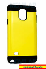 Funda /Carcasa Samsung N910  Galaxy Note 4 antigolpes tipo Spigen color Amarillo