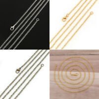 12 PCs/Packet Alloy Link Cable Chain Necklace Lobster Clasp Jewelry Making Chain