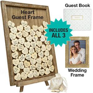 Wedding Guest Drop Top Frame Wedding Guest Book Alternaitve (WHITE)