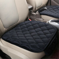 Universal Car Front Seat Pad Cover Cushion Mat Chair Protector Plush Black New