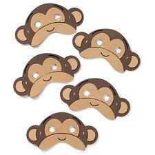 5 Little Jumping Monkeys Foam Face Masks -  Childrens Fancy Dress Animal Song