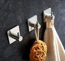 3M Self Adhesive Hook  Stainless Steel Stick Wall Hanger Bathroom Kitchen Door