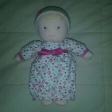 Rare~Carter's My First Doll Plush Rattle Lovey Blond Hair, Blue Eyes~9 1/2""