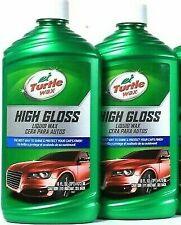 2 Bottles Turtle Wax 16 Oz High Gloss Best Way To Shine & Protect Car Liquid Wax