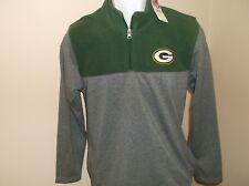 Green Bay Packers Football 1/4 Zip Pullover Youth Medium 10-12 nwt Free Ship