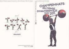Document Philatélique 1er Jour : 07/10/ 2011 - Championnat Monde d'Haltérophilie