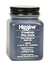 Higgins Black India Fountain Pen Ink, 2.5 Oz Bottle (46030)