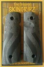 "1911 Grips - ""OLD GLORY"" Full Size Magwell - (Flat Black) -Original SkinGripz !"
