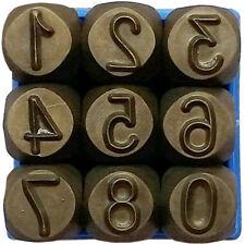 Punzoni in Acciaio Numeri 5 6 8 10 mm Alta Qualità Professionale