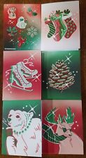 Christmas Stationery Set from Starbucks – 5 blank cards (w envel.) & 6 stickers