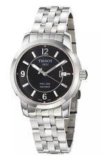 Tissot Men's  'PRC 200' Black Dial Stainless Steel Quartz Watch T0144101105700
