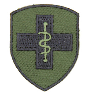 2ND MEDICAL BRIGADE MEDICS BRITISH ARMY 2 MED BDE OLIVE BLACK TRF FLASH PATCH