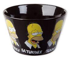 Simpsons bol Daily Homer A normal week des céréales Coque Tasse Bowl NEUF
