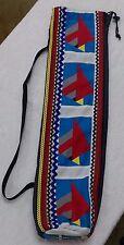 Native American Patchwork RED BIRD Ballstick Stick Ball BAG Case Holder HandMade