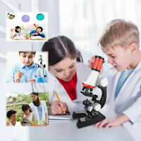 Early Education Kids 1200X Adjustable Focus Microscope w/Specimen Kit Toy