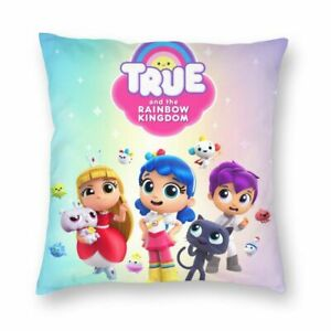 True and the Rainbow KingdomThrow Pillow Cover Sofa Square Cushion Case 16-22''
